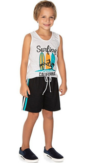 Roupa Infantil Menino Conjunto Regata E Bermuda Surf Isensee