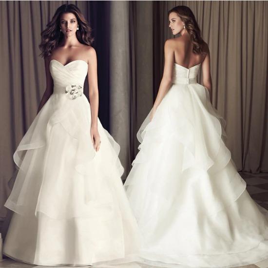 Vestidos De Casamento 2018 Flor Decorado Caixilhos Y28