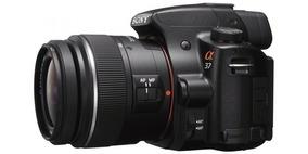 Câmera Digital Profissional Alpha37 Sony - Seminova Completa