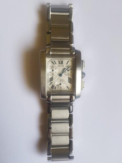 Relógio Cartier Tank Francês Com Cronografo