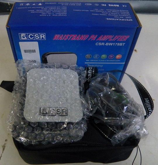 Ampl.portátil C/ Microf. Auricular Usb/bt Bw178bt Csr-kit
