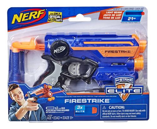 Imagem 1 de 2 de Lançador Nerf Elite Fire Strike Hasbro A0709 Com Mira Laser