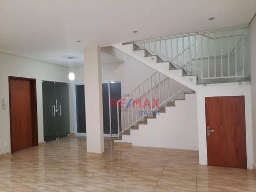 Imagem 1 de 23 de Sobrado Com 3 Dormitórios Para Alugar, 345 M² Por R$ 4.500,00/mês - Centro - Botucatu/sp - So0135