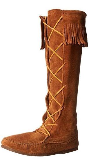 Botas Apache Nativo Pocahontas Indigena De Piel Adultos 1