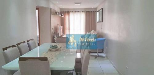 Imagem 1 de 21 de Apartamento Com 2 Dormitórios, 2 Suítes, Sacada Gourmet, 2 Vagas, À Venda, 89 M² Por R$ 560 - Tupi - Praia Grande/sp - T2t142a - Ap0097
