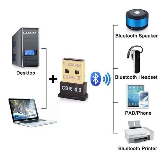 Adaptador Bluetooth Usb Mini Crs 4.0 + Edr Mas Avanzado