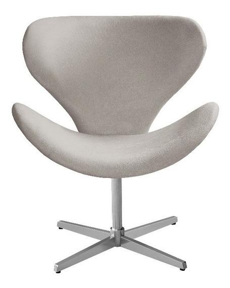 Cadeira Poltrona Decorativa Swan Giratória Promoção