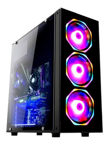Pc Gamer Fácil Intel I3 9100 8gb Amd Radeon Rx 2gb Hd 1 Tb