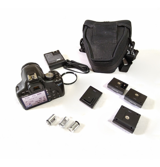 Canon T1i 15mil Cliques + Lente Is + Bolsa + Rádio Flash  yg