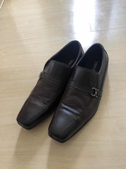 Sapato Masculino Social Couro Marrom 42
