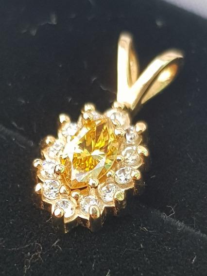 Dije / Dama Diamante Claridad Vs1 Color Fansy 39 Puntos