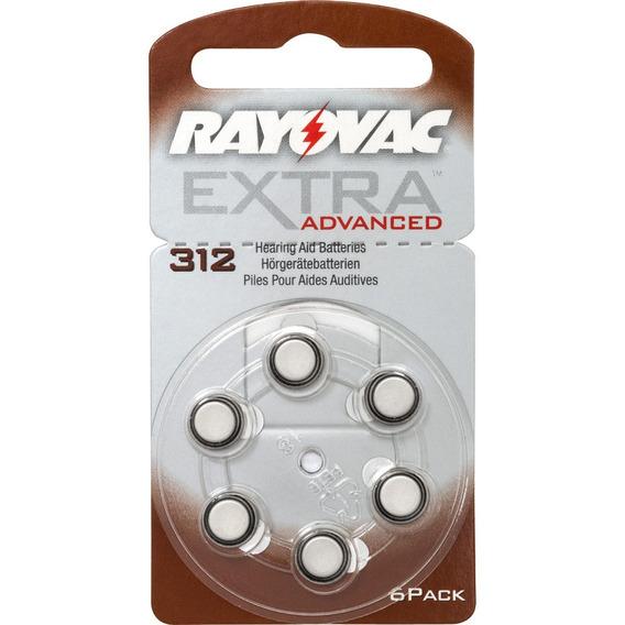 Pilhas Aparelho Auditivo Surdez Bateria 312 Rayovac Original
