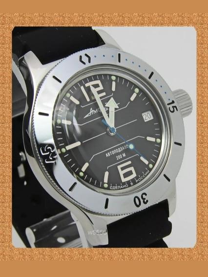 Reloj Ruso Vostok Amphibian Diver 200m Nuevo!