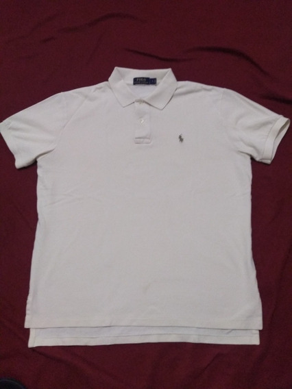 Playera Tipo Polo Marca Ralph Lauren Color Beige