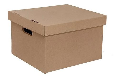 20 Caja De Cartón X300 Archivos S Con Tapa