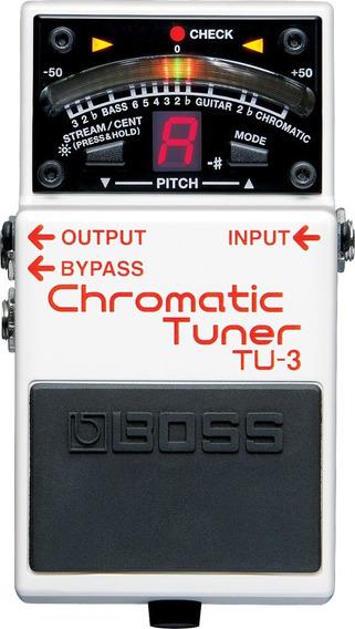 Pedal Guitarra Tuner Afinador Cromático Boss Tu-3 Tu3 C/ Nf