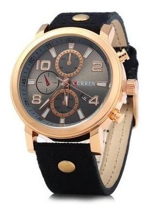 Relógio Masculino Curren 8199 Importado Pulseira De Couro
