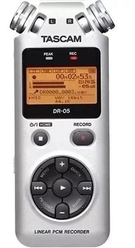 Gravador Áudio Tascam Dr-05 Digital Wav Mp3 Dr 05 Cinza