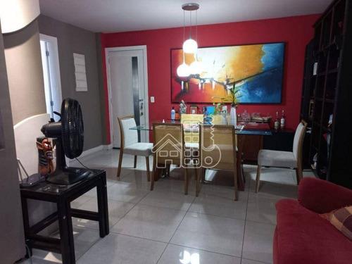 Apartamento Com 3 Dormitórios À Venda, 112 M² Por R$ 750.000,00 - Icaraí - Niterói/rj - Ap1768