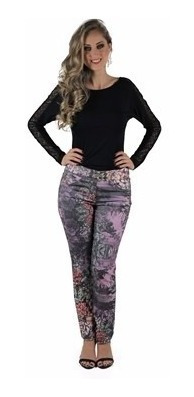 Calça Estampada Planet Girls P E M