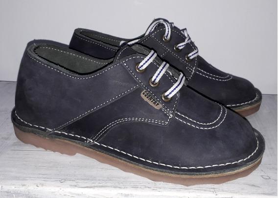 Zapatos Azules Country T.36 Unisex De Vestir Sin Uso