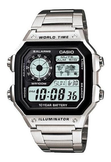 Relógio Casio Ae-1200whd-1avdf Original 12 Meses De Garantia