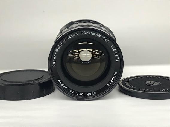 Lente Takumar/6x7 Asahi Opt.smc 1:4.5/75mm(médio Formato).