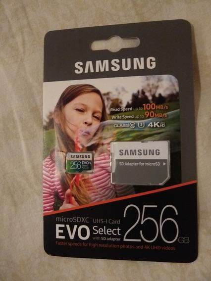 Micro Sd 256 Gb Samsung Evo - Cartão De Memória Classe 10