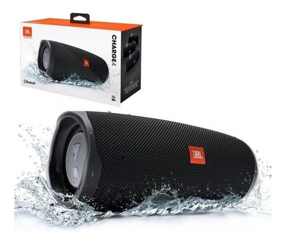 Caixa De Som Bluetooth Jbl Charge 4 Black 30w. Prova D