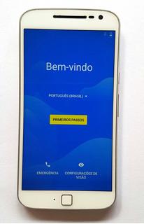 Motorola Moto G4 Plus Dual Xt1640 32gb Branco Tela Fantasma