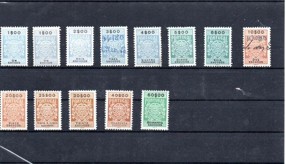 Rco Selos Fiscais Portugueses E 1 Angolano, Mint E Usado