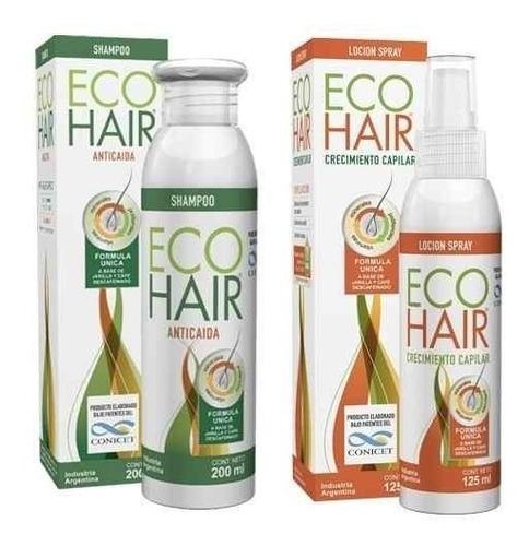 Eco Hair Shampoo 200ml + Locion X 125ml Anticaida Openfarma