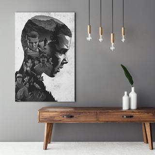 Quadro Stranger Things Personagens Estilo Hq Canvas 120x80cm