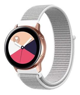 Pulseira Nylon Galaxy Watch Active 20mm + Pelicula Nano