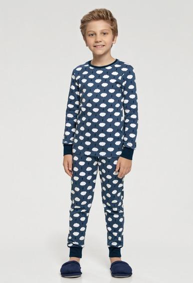 Pijama Manga Longa Menino Nuvens