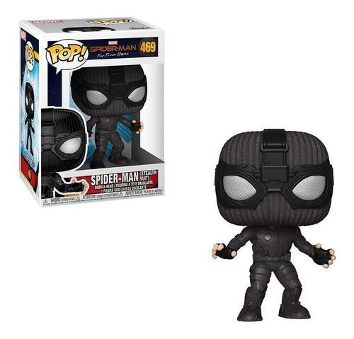 Muñeco Tipo Funko Pop Spiderman Traje Negro Marvel