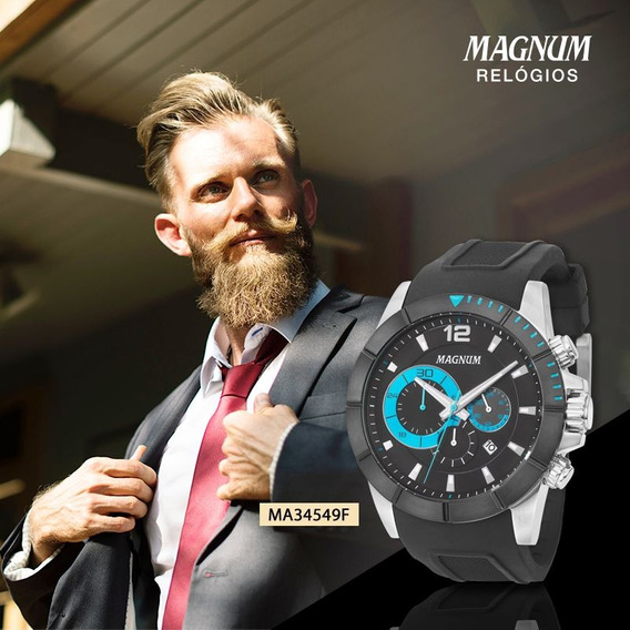 Relógio Masculino Magnum Analógico Ma34549f Cronógrafo
