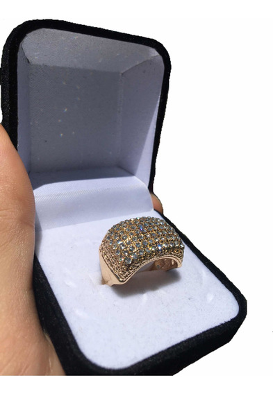 Anel Full Iced Out Gold Cravejado (18 Ao 22)