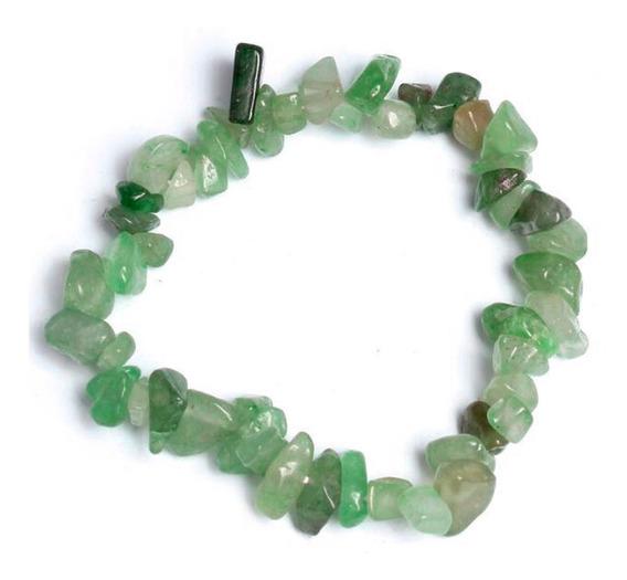 Pulsera Cuarzo Fluorita Verde Yoga Piedra Natural Elastica