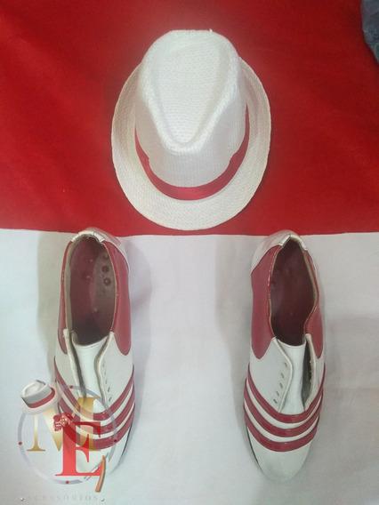 Kit Sapato , Camisa Listrada E Chapeu Frete Grátis