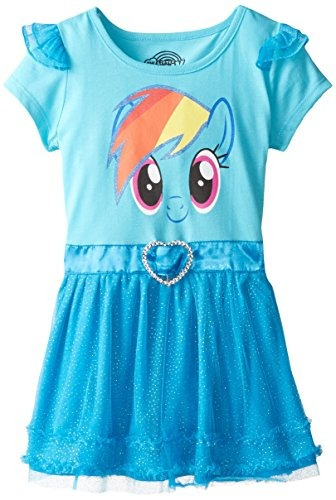 Vestido My Little Pony Con Volados Y Alas Para Ni?as