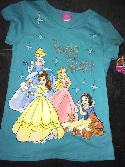 Playera Princesas Talla 10 Años