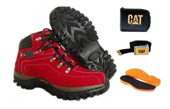 Bota Feminina Coturno Adventure Caterpillar + Kit Promoçao