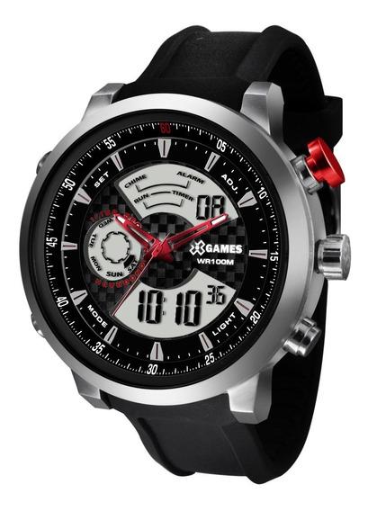 Relógio X-games Masculino Anadigi Xmspa014 P2px Prata Oferta