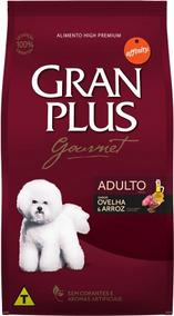 Ração Gran Plus Para Cães Gourmet Ovelha E Arroz Adulto 3kg