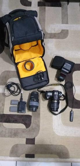Câmera Fotográfica Nikon D90 E Acessórios.
