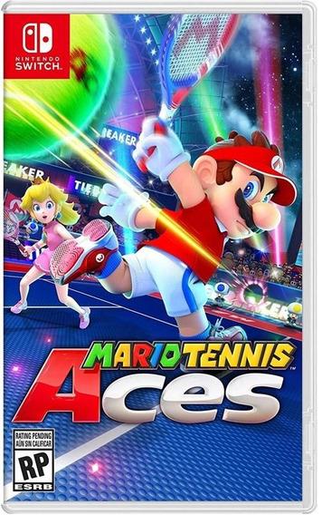 Mario Tennis Aces Nintendo Switch Original Lacrado + Brinde