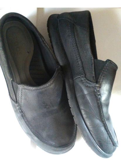 Zapatos De Cuero Tipo Náutico Num 40/41 Super Comodos