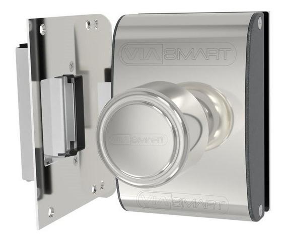 Fechadura Elétrica Porta De Vidro Agl Cromada Inox Pv200f1i