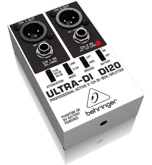 Direct Ativo Di20 Direct Box Behringer 2 Canais Ultra Di 20